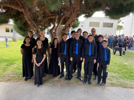 2020 Ventura County Honor Band Members from VVMS